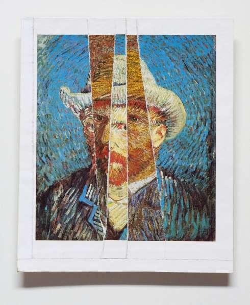 Iven Einszehn: Vincent 30 (Collage von Selbstportrait Vincebnt Van Gogh)