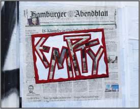 Empty Hamburger Abendblatt (Empty Nr .6) / cutout